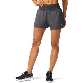"""asics Ventilate 2-N-1 3,5"""" Shorts Dames, grijs"""